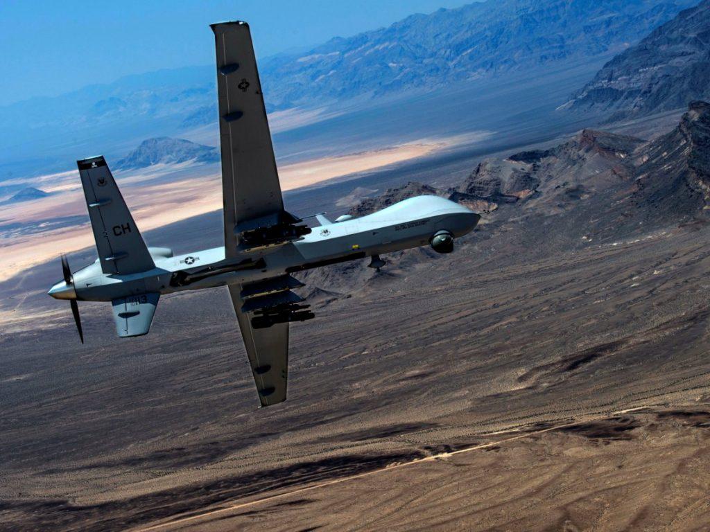 الطائرة الأمريكية من دون طيار طراز الحاصد MQ-9 Reaper التي استهدفت قاسم سليماني