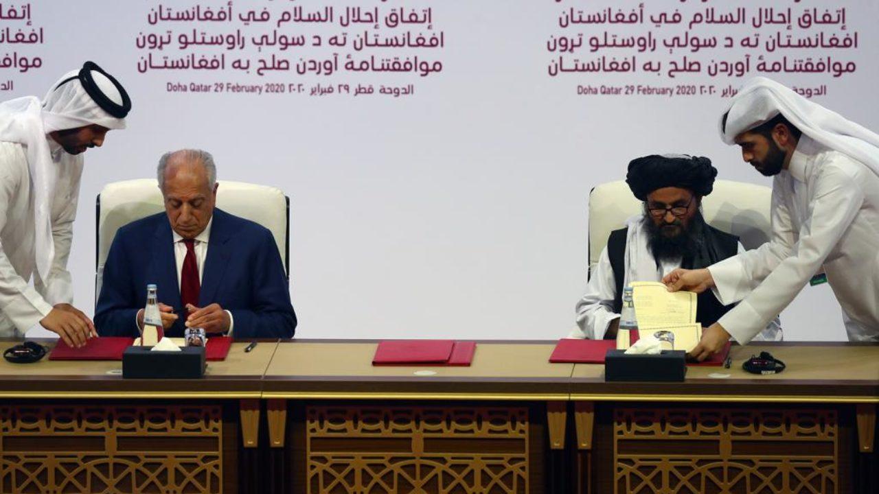 إطلالة متأنية على موقف إيران من إتفاق السلام بين طالبان وأمريكا في أفغانستان