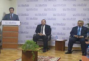 رئيس مركز القاهرة للدراسات الاستراتيجية، الأستاذ/ أحمد المسلماني، يقدم لمحاضرة الدكتور/ محمد محسن أبو النور.